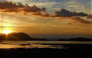 Η θέα από την Παναγιά της Σγράπας το ηλιοβασίλεμα